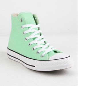 CONVERSE Light Aphid Green High Top Sneakers